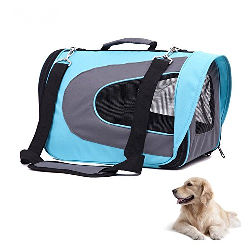 ERolldeeP Portable Pet Soft Sided Carrier Dog Cat Carrier Oxford Cloth Tote Bag Travel Bag Home Perfect for Dogs Cats Puppies-Blue