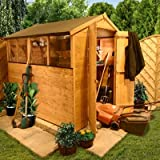 BillyOh 5' x 7' Lincoln Tongue And Groove Double Door Apex Wooden Garden Shed