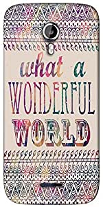 Snoogg What a wonderful world Designer Protective Back Case Cover For Micromax A117