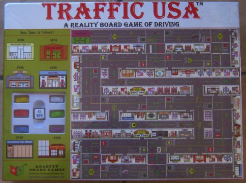 Traffic USA a Reality Board Game of Driving