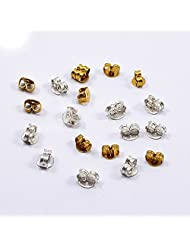 Silvesto India Top Class 10 Pcs Gold Plated & 10 Pcs Silver Plated Hooks Accessories Jewelry US 19908