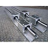 2x SBR12-1000mm 12mm Fully Supported Linear Rail + 4 SBR12UU BlockbEARING