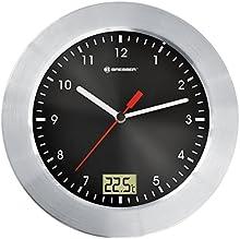Comprar Bresser MyTime - Reloj de pared analógico para cuarto de baño con indicador de temperatura, color negro (importado)