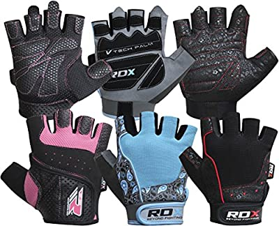 RDX Amara Leather Women's Weight Lifting Gym Gloves Crossfit Training Fitness Exercise by RDX