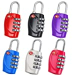 2pcs Dial TSA Combination Padlock Res...