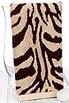 Zebra Print Brown Hand Towel