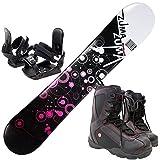 3点セットスノーボード☆ZUMA WAVE-9 金具付き ブーツ付き (ブラック158cm, ブーツ28.0cm)