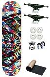 Alien Workshop OG Camo Logo 8.0 Skateboard Deck Complete With White Wheels