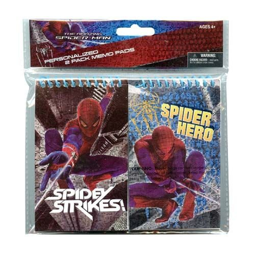 Spiderman 2 Piece Notebook, Memo Pad School Supply Set