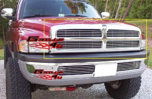 APS Polished Chrome Billet Grille Grill Insert #D85030A (1998 Dodge Ram 1500 Grill Emblem compare prices)