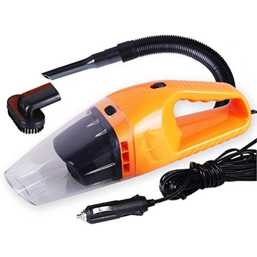 VORCOOL Aspirapolvere Mini palmare auto di 12V 120W, collettore di polveri (arancione)
