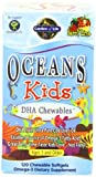 Garden of Life Oceans Kids DHA Chewables, Omega 3, 120 Softgels Box