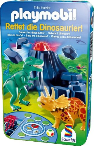 Schmidt - 51229 - Jeu de Soci�t� - Playmobil - Sauvez Les Dinosaures!