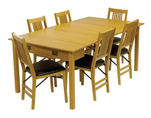 Oak Table And 6 Chairs 7109