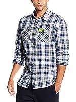 Superdry Camisa Hombre (Azul / Blanco)