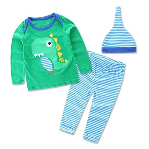 baby m ntel switchali 3pcs neugeborener s uglingsbaby anzug dinosaurier t shirt hosen hut. Black Bedroom Furniture Sets. Home Design Ideas