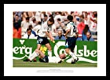 Framed 'Gazza Dentists Chair' Euro 96 England Football Photo Memorabilia