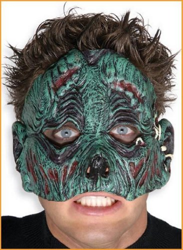 Zombie Masks Chinless Green Zombie Halloween Mask