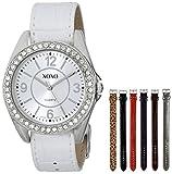 XOXO Women's XO9054 Seven Color Croco Interchangeable Strap Set Watch