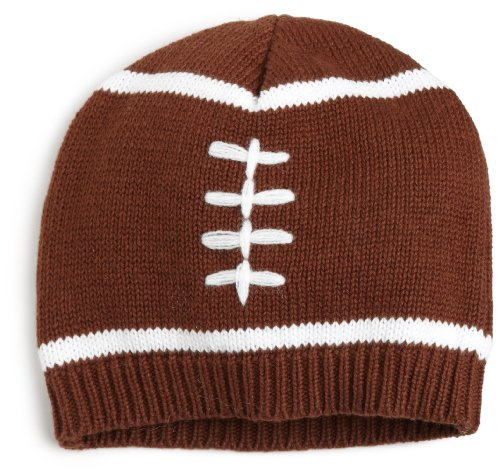 Mud Pie Baby-boys Infant Football Hat, Brown/White, 12-18 Months