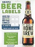 Neato Blank Beer Bottle Labels - 40 pack - Water Resistant, Vinyl, For InkJet Printers