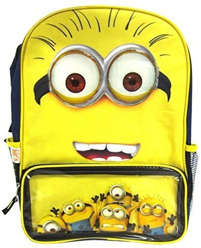 Despicable-Me-2-Minions-GRUS-BackpackSchool-Bag-with-Small-Compartment-New