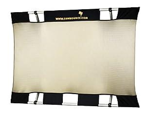 Sunbouncer Mini Bespannung Zebra gold/silber - Rückseite weiß (nahtlos)