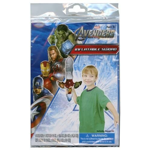 "Avengers 24"" Inflatable Toy Sword w/Repair Kit Included for Outdoor or Indoor Play"