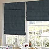 Presto Bazaar Black Stripes Satin Window Blind (84 Inch X 44 Inch)