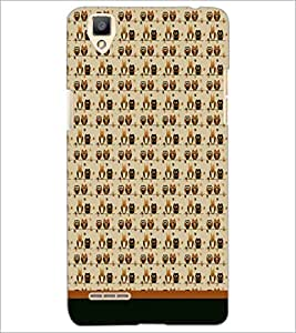PrintDhaba Owl Pattern D-1703 Back Case Cover for OPPO F1 (Multi-Coloured)