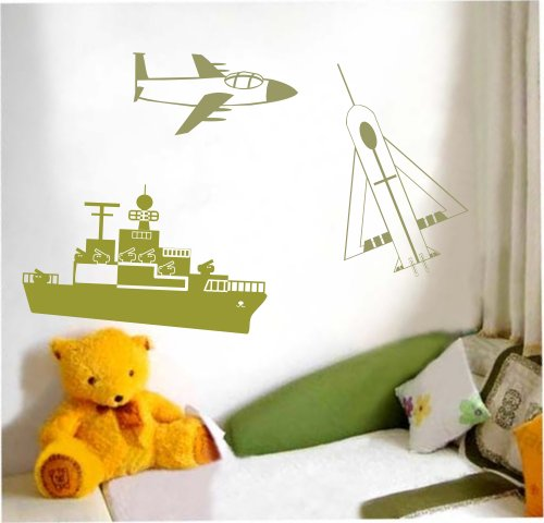 Decoration wall sticker wall mural decor-boy's room ship,fly boat,spaceship