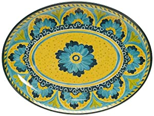 Certified International Mexican Tile Oval Platter, 18-Inch by 13-1 2-Inch by Certified International
