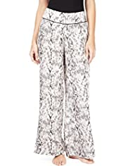 Autograph Faux Snakeskin Print Pyjama Bottoms