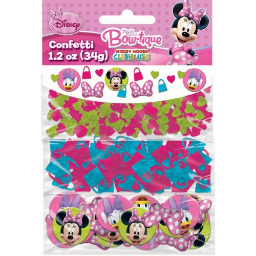 Disney Minnie Mouse Bow-tique Value Confetti (Multi-colored) Party Accessory
