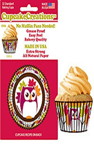 Purchase Owl Cupcake Papers, Standard Muffin Liners - 32 Count wholesale