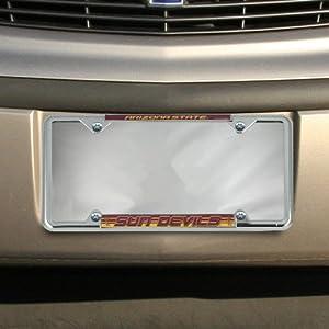 Buy NCAA Arizona State Sun Devils Chrome License Plate Frame by Football Fanatics
