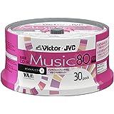 ビクター 音楽用CD-R 80分 ワイドホワイトプリンタブル 30枚 CD-A80T30W