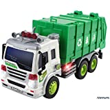 Memtes® Friction Powered Garbage Truck Toy with Lights and Sound for Kids