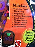 Disney Haunted House Cookie Kit Halloween Mickey, Donald, Minnie, Goofy, Pluto, Chocolate Cookie House
