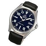 Orient Sporty Automatik blue Datum Leder klassische Herrenarmbanduhr FER2D009D0