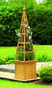 Wooden Obelisk Planter