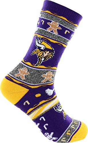 2016 Ugly Christmas Xmas Holiday Socks - Minnesota Vikings