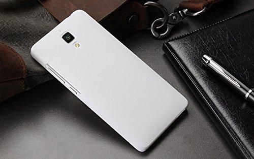 size 40 0c156 5c040 WOW Imagine Matte Rubberised Hard Case Back Cover For XIAOMI MI 4 MI4  (White)