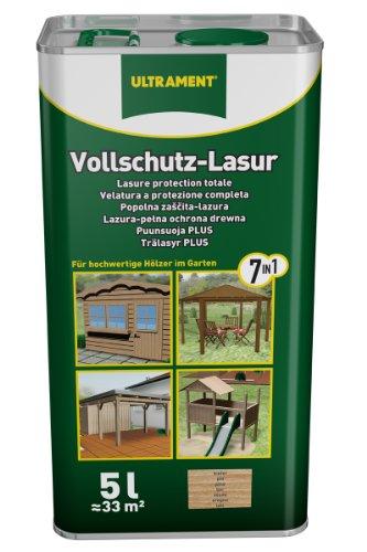 Ultrament 68250050195208 - Barniz de protecci�n total 7 en 1 para madera (5 L, transparente)