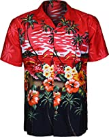 Mens Hawaiian Shirts Short Sleeve Shirt Tree Beach Floral And Printed Colorful Graphics