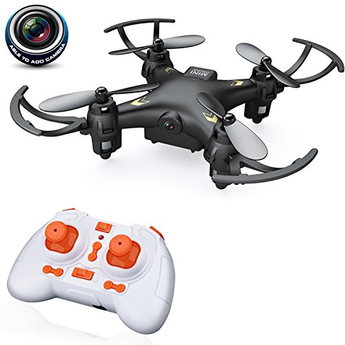 QuadPro CM5 Mini RC Quadcopter-Drone with camera, 2.4GHZ 4CH 6-axis Gyro Remote Control Rc Nano quadcopter Drone with 0.3MP HD Video camera(Black)