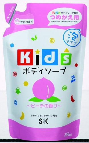 エスケー石鹸 キッズボディソープ ピーチの香り 詰替用250ml