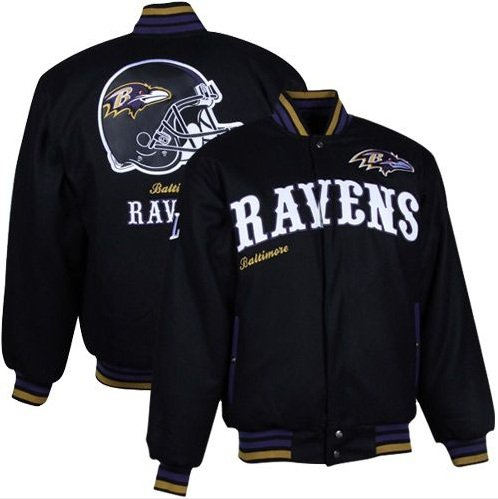 NFL Men's Baltimore Ravens First Down Wool Jacket (Black, Large) at Amazon.com