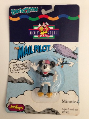 The Mail Pilot Minnie Mouse Bendem. Poseable Minnie Mouse. - 1