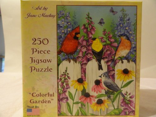 Jane Maday 250 Piece Jigsaw Puzzle - Colorful Garden - 1